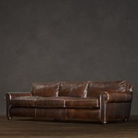 Lancaster Leather Sofas | Sofas | Restoration Hardware