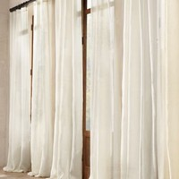 Sheer Belgian Linen Drapery | Linen | Restoration Hardware
