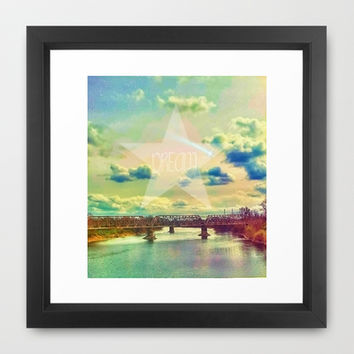 DREAM LAND Framed Art Print by DuckyB (Brandi)