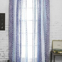 Magical Thinking Stamp-Stripe Curtain - Urban Outfitters