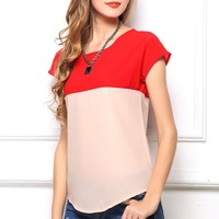 Eye-catching Chiffon Tee - OASAP.com