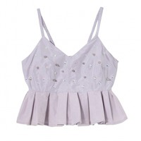 Studs cropped camisole