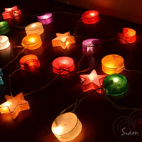 String Lights For Bedroom and Wedding Decoration Universe Moon Star and Sun 20 Lights / Set