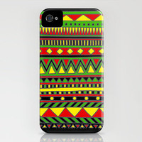 Tribal #4 (Rasta) iPhone Case by haleyivers | Society6