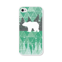 Geometric Phone Case - Mint Green Polar Bear Geometric iPhone 4 / 4s - 5 / 5s - 5c Case - iPhone 5c Case - iPhone 5 Case - iPhone 4s Case
