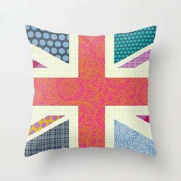 UK Beauty flag Throw Pillow by Sharon Turner | Society6