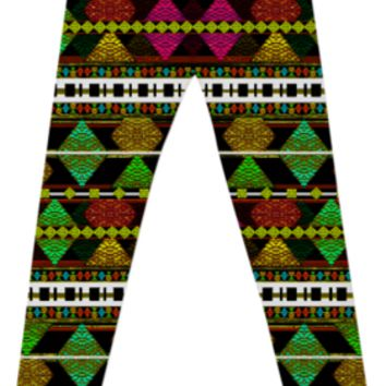 Aztec Style Pattern Leggings created by Rudimencial Design | Print All Over Me
