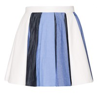 Anna Denim Pleated Skirt