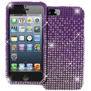EMPIRE Cute Purple to Light Purple Fade Full Diamond Bling Case for Apple iPhone 5
