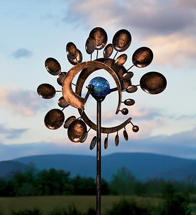 Illuminarie Dual-Motion Pinwheel, Solar Light Pinwheel - Wind & Weather