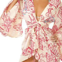 OndadeMar swimwear -Saint Barth kimono wrap