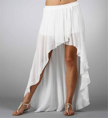 white hi low hem wrap skirt from my wishlist
