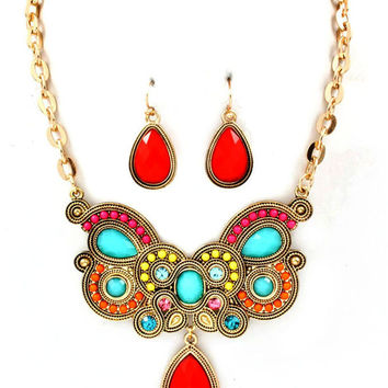 Blue Vanilla â?? Tracy Red Necklace
