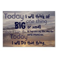 Today I will... Motivational Poster from Zazzle.com