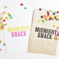 50 Midnight Snack Candy Buffet Bags Wedding Favor Bags Candy Treat Bags Customizable Wedding