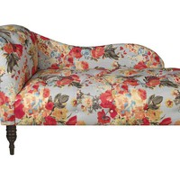 Francis Floral Chaise, Blue/Multi