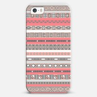 Peach Rose Aztec Native Tribal Pattern iPhone 5s case by Rex Lambo | Casetagram