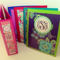 One Personalized Vera Bradley Inspired Binder Cover (Individual JPEG File)