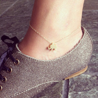 Tiny elephant 14K gold filled anklet, very cute and delicate, lucky symbol