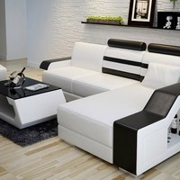 Runway Small Leather Sectional by Scene Furniture - Opulentitems.com
