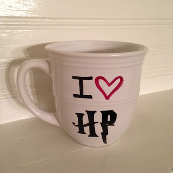 I love Harry Potter 14 oz Stoneware Coffee Mug, Coffee Cup