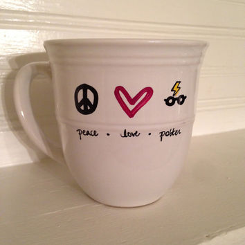 Peace. Love. Harry Potter. 14 oz Stoneware Coffee Mug, Coffee Cup