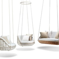 FABRIC GARDEN SUSPENDED CHAIR SWINGME | DEDON