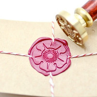 Cherry Peach Blossom Flower Floral Gold Plated Wax Seal Stamp x 1