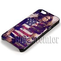 Lana Del Rey America Flag Cover - iPhone 4 4S iPhone 5 5S 5C and Samsung Galaxy S3 S4 S5 Case