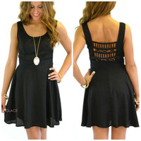 Back Talk Black Cutout Party Dress