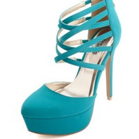 POINTED TOE STRAPPY D'ORSAY HIGH HEELS