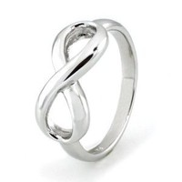 Sterling Silver Infinity Ring (Size 7) Available Size: 4, 4.5, 5, 5.5, 6, 6.5, 7, 7.5, 8, 8.5, 9