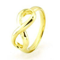 Gold Plated Sterling Silver Infinity Ring (Size 5) Available Size: 5, 6, 7, 8