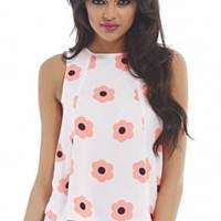 Neon Daisy Sleeveless Top