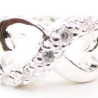 Infinity Twisting Ring, 925 Sterling Silver Band, Size 6