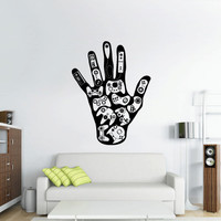 Wall Decal Vinyl Sticker Decals Game Hand Controllers PS3 XBOX ART  (z2635)