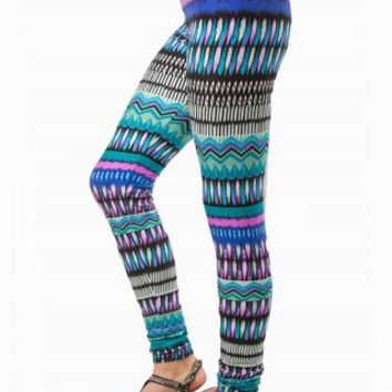 GEO WATERCOLOR LEGGINGS