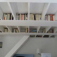 Ceiling Book Storage Idea