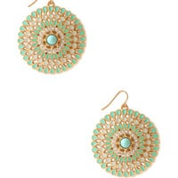 Mod Medallion Drop Earrings