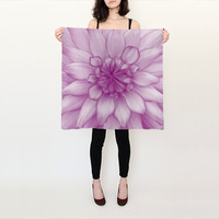 Dahlia Radiant Orchid Silk Scarf by JUSTART (Square Scarf (26