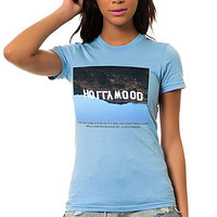 The Hollywood Tee in Baby Blue