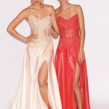 Jovani 10473 Strapless Silk Dress