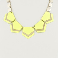 Chunky Neon Geometric Necklace - Yellow