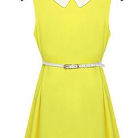Women's Sleeveless Doll Collar Chiffon Dress