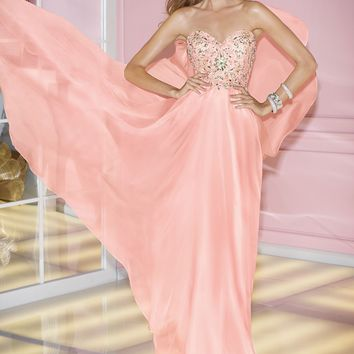 Alyce 6227 Strapless Chiffon Dress