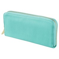 Merona® Zip Around Solid Wallet - Turquoise