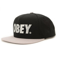 Obey The City Black & Silver Snapback Hat