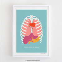 Hug Keep Us Alive - Art print