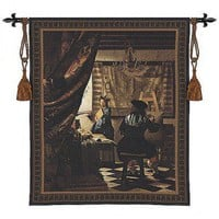Fine Art Tapestries The Artist Studio Tapestry - Vermeer - 3082-WH - All Wall Art - Wall Art & Coverings - Decor