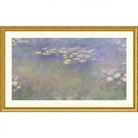 Great American Picture Water Lilies (Nympheas) 1916-26 Gold Framed Print - Claude Monet - 93294-Gold - All Wall Art - Wall Art & Coverings - Decor